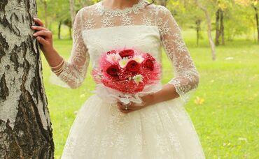пышное кружевное платье в Кыргызстан: Продается свадебное платье в ретро стиле, очень красивое кружевное