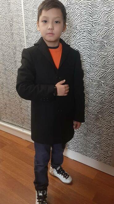 Детское пальто для мальчиков натуральный кашемир. Мех отстегивается