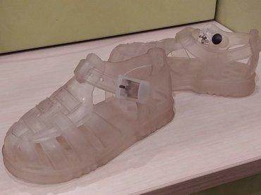 Продам пляжные гелевые сандальки Zara, б/у, размер 22 в Бишкек