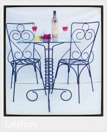 Metalni stolovi i stolice - Valjevo