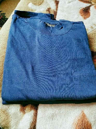 мужская футболка с якорем в Кыргызстан: Нательная футболка с карманом.Х/б.Размер 52-54