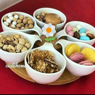 taxta - Azərbaycan: Aros turk firmasinin cerez ve sirinyet gabilari Yemek ucun gablar