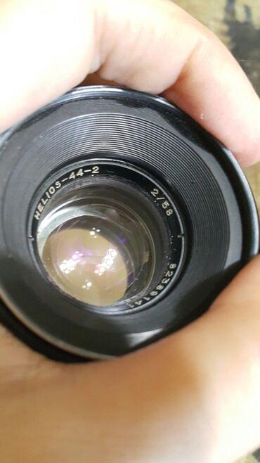 Obyektivlər və filtrləri - Azərbaycan: Helios 44-2 obyektivi, yaxşı vəziyyətdədir, üstündə canon üçün metal