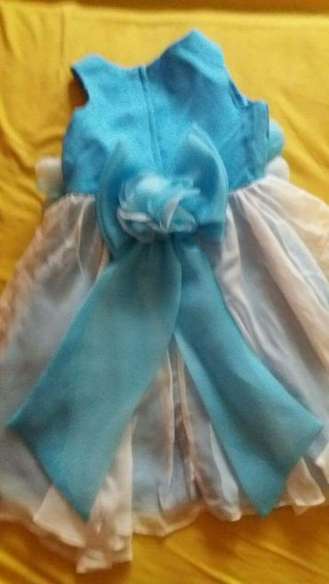 Elegantna plavo bela haljinica za devojcice. Nova, nenosena. Velicina - Indija