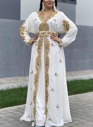 вечернее платье 52 54 размер в Кыргызстан: Продам марокканский кафтан! Очень красивое платье на никах или на веч
