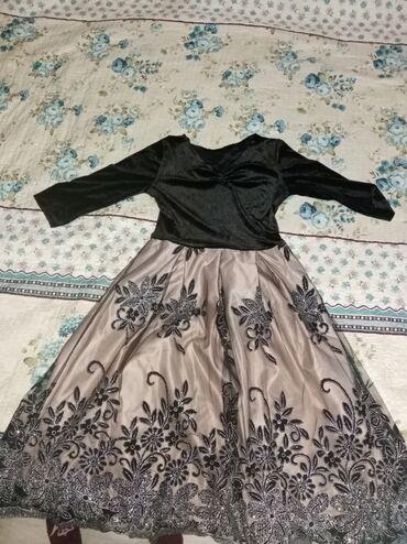 вечернее платье до колен в Кыргызстан: Красивое вечернее платье, вверх бархатный, низ атлас с сеткой с