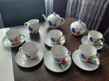 подарок мужу на новый год в Азербайджан: Очень нежный красивый сервиз Барановка 60х годов.Ватсап активен