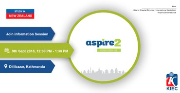 Aspire2 International is a PTE in New Zealand offering many courses in in Kathmandu