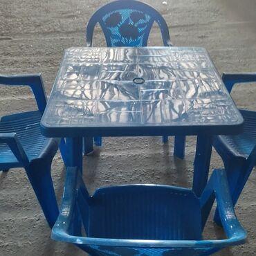 Həyət üçün oturmaqa qonaq stollari gözəl plastik stollardi əlaqə