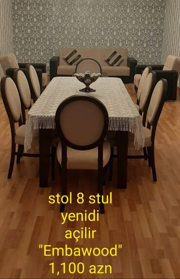 Kafe ucun stol stul satilir - Азербайджан: Təzə stol stul