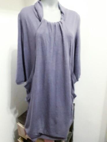 Neobična tunika vel 48 ,boja sivo  ljubičasta,  sastav  65% vuskoza - Obrenovac