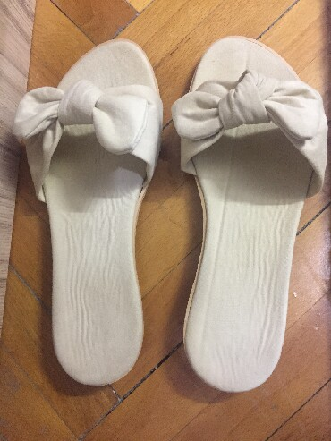Ženska obuća | Pirot: Papuče br. 39, bež boja, kao nove, jednom obuvene
