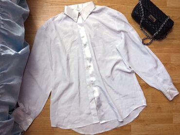 Personalni proizvodi | Bor: Bela kosulja sa svilenim detaljima, XL