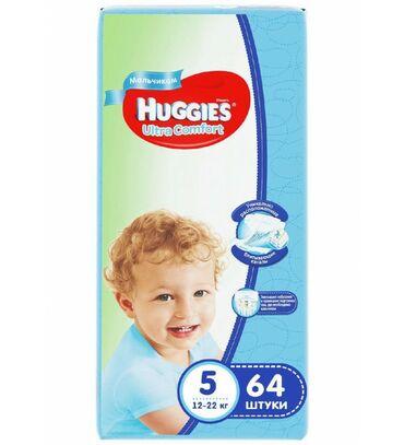 huggies elite soft в Кыргызстан: Huggies ultra comfort подгузники для мальчиков 5, 12-22 кг, 64шт