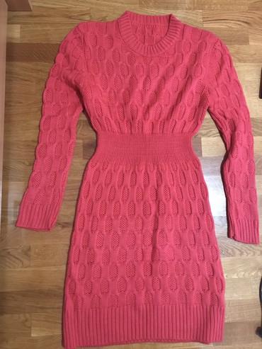 Zimska haljina, koralno crvena boja univerzalna cena 1500 dinara - Novi Sad