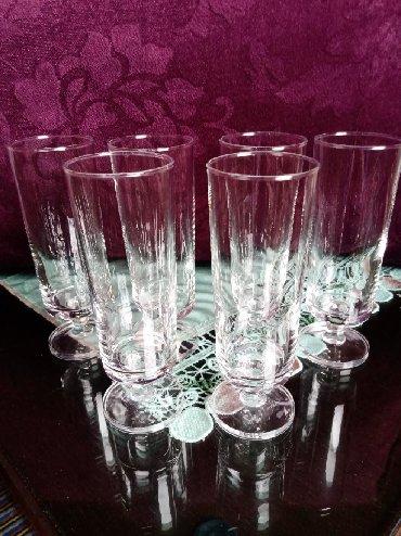Čaše za piće - Srbija: Case nove za vino sa stopom. komada 6. Visina. 14cm. precnik
