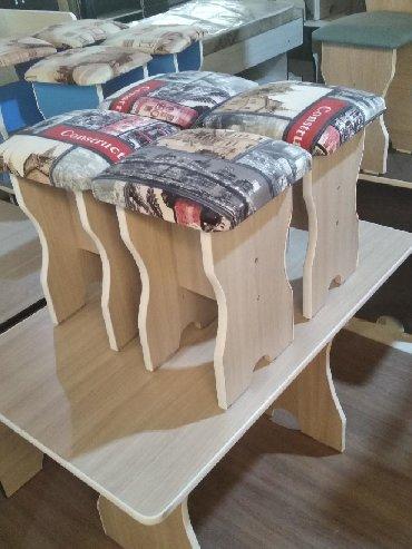 стол большой для дома в Кыргызстан: Стол и четыре стульчикаСтол и четыре табуреткиСтол и четыре стола Стол