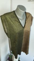 Zenski stofani vuneni mantic tsmno braon - Srbija: ZARA zenska majica MSavrsena moderna udobna jako majica napred je