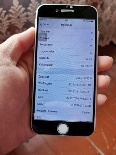 кожаный чехол iphone 6 в Азербайджан: Б/У iPhone 6 64 ГБ Золотой