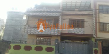 A new flat system house having land area 0-4-0-0 of 2.5 floors, in Kathmandu