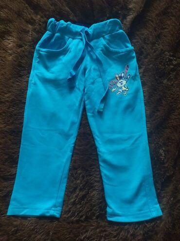 Спортивные штанишки на девочку 1-2 года,трикотаж,одевали пару раз