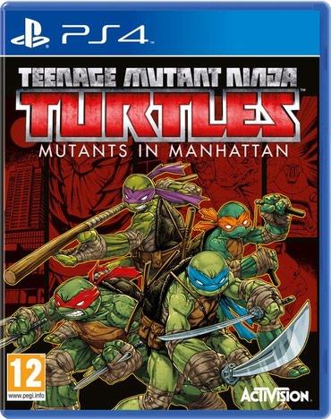Bakı şəhərində Ps4 üçün Turtles oyun diski satılır Yenidir bağlı upokovkada