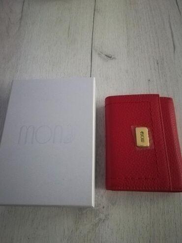 Kozni novcanici - Srbija: Kozni novcanik Mona- zenski crveni