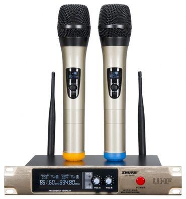 Mikrafon karaoke ucun 2-li teze qutuda reng qara metal korpus в Bakı
