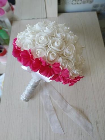 Свадебные платья и аксессуары в Кыргызстан: Свадебные букет прошу 1500 сом в единственном экземпляре
