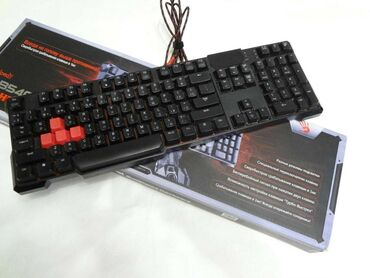 Игровые клавиатуры с подсветкой. Также есть мышки. Цена от 500 сомов
