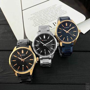 цена золота бишкек в Кыргызстан: Серебристые Мужские Наручные часы Curren