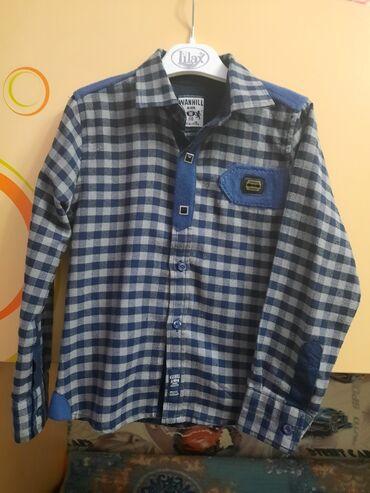 Рубашка на мальчика,стильная,тёплая удобная,качественная! Состояние