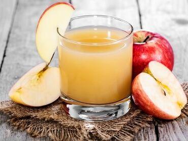 Натуральный яблочный сок 100% без добавки . Литр 40 сомов