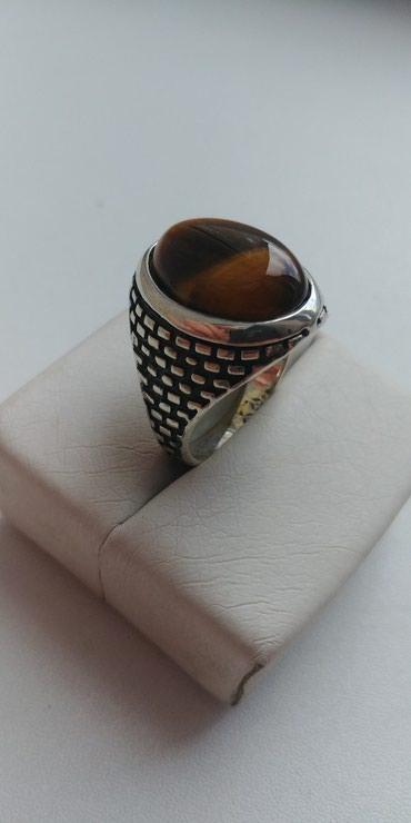 тигровая куртка в Кыргызстан: Перстень в серебре 925 пробы,камень тигровый глаз. цена 2500