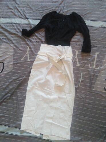 Продам шикарную двойку, юбка плотная джинса, высокая посадка, кофта