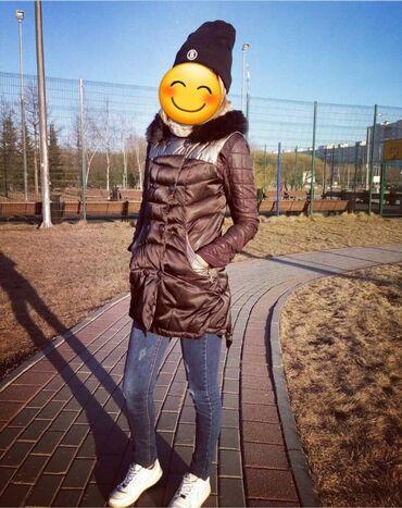 Стильная жилетка весна_осень,очень теплая,я даже зимой носила, мех