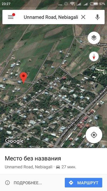 Gəncə şəhərində Google maps  40.755356,46.403990 Nebiagali torpaqin eni 20 uzunu 40 me