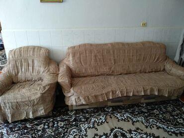 Диваны в Ак-Джол: Продаю мягкую мебель диван+ 2 кресла 5000 сом звоните