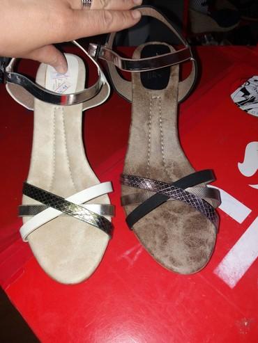 Zenske sandale sa ortopedskom petom jos par brojeva,desna crna samo br - Belgrade