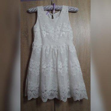 Bela haljina sa cipkom - Srbija: Bela haljinica od cipke,ima postavu. prelepa Obucena samo letos,za