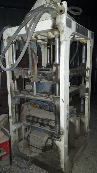 Полный комплект станков для изготовления пескоблоклов и брусчаток в Бишкек