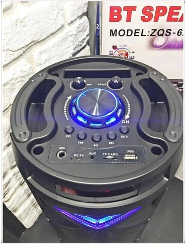 Səsgücləndirici və qəbuledicilər Azərbaycanda: ZQS-6201 Bluetooth portativ dinamik sistemi.Mp3, radio, USB, micro SD