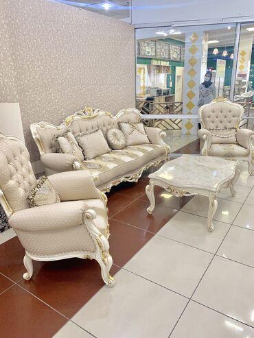 Комплекты столов и стульев в Кыргызстан: Гостиная мебель в комплекте, производство Турция оригинал Адрес ТЦ