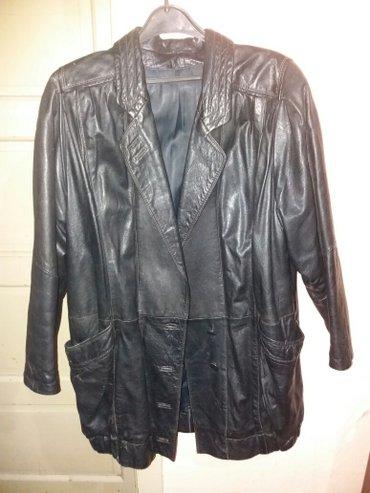 Crna jakna, od prirodne kože, L veličine, domaće proizvodnje, veoma le - Nis