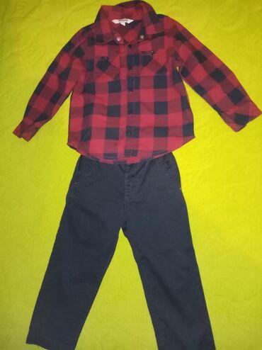 Muška odeća | Lazarevac: Komplet za dečaka pantalone podesive u struku i košuljica veličina 2