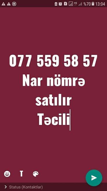 Электроника - Сиазань: Təcili nar nömrə satılır 0775595857