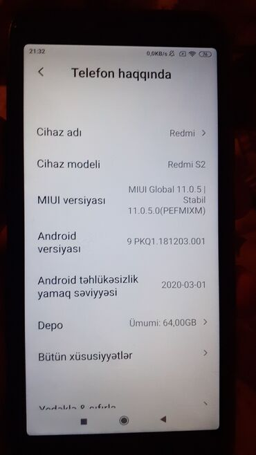 видеокамера xiaomi в Азербайджан: Б/у Xiaomi Redmi S2 64 ГБ