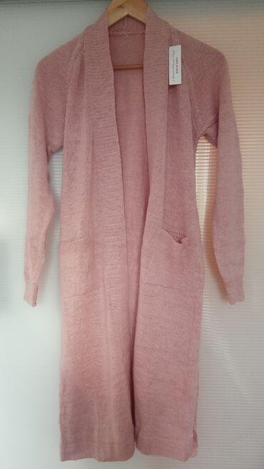 Ponco vuna akril - Srbija: RASPRODAJA!!!Puder roze kardigan, veličina odgovara do 2xl, materijal