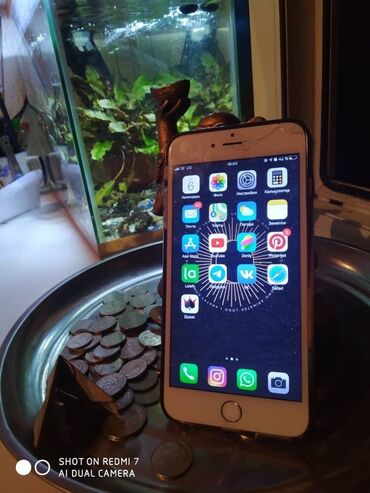 apple iphone 6 s в Кыргызстан: Б/У iPhone 6 Plus 32 ГБ Серебристый