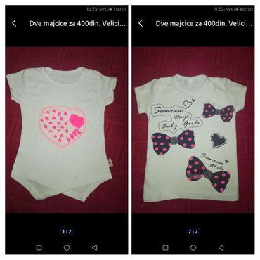 Dečija odeća i obuća - Razanj: Dve majcice za 300din. Velicina 2
